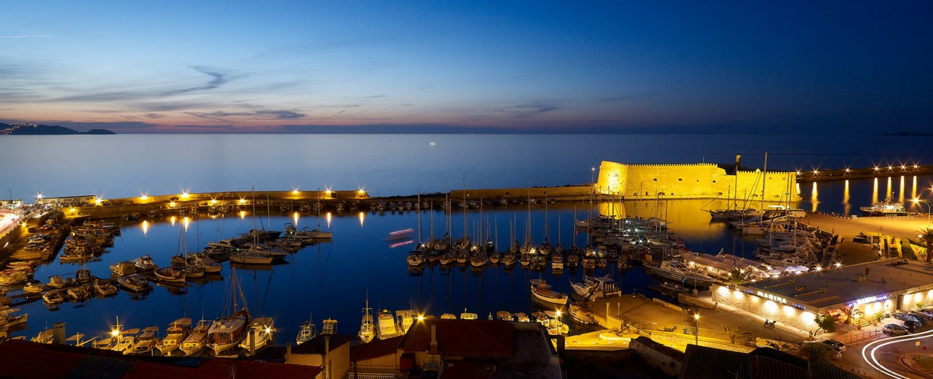 Panoramic view to Heraklion Venetian fortress - Lato Boutique Hotel